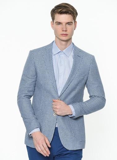 Daffari Klasik Ceket Mavi